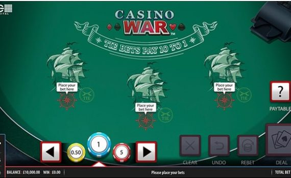What is the new game of Casino war at online casinos to play in 2021